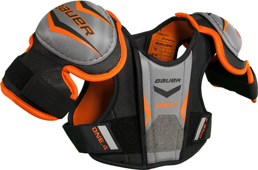 Learn to Play Hockey Bauer Supreme One.4 Youth Shoulder Pads