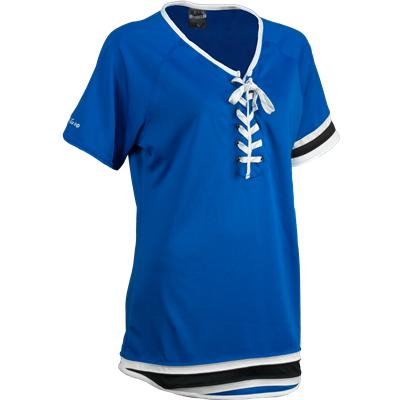 Top Shelf Womens Lace Front Jersey Top
