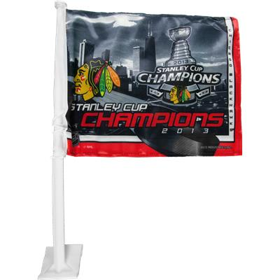Chicago Blackhawks 2013 Stanley Cup Champions Car Flag