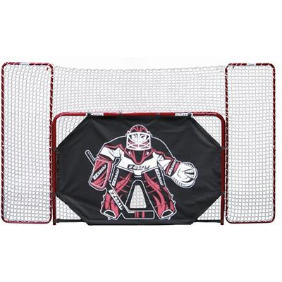 EZ Goal Folding Metal Goal With Backstop, Corner Targets, and Tutor