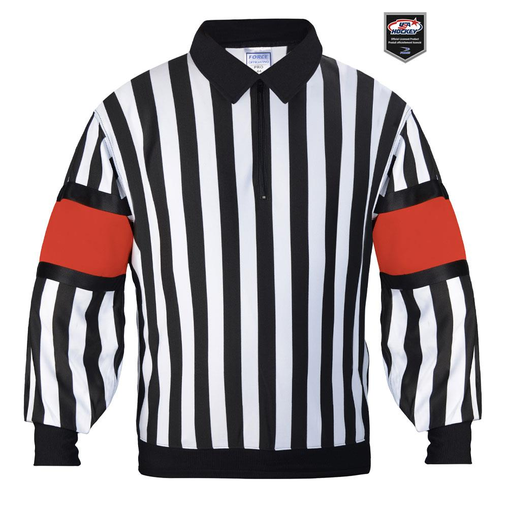 Force Pro Referee Jersey w  Red Armbands - Mens 32d59f44bc5