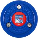 Green Biscuit NHL Team Logo Puck