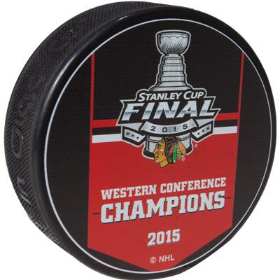Sher-Wood Chicago Blackhawks 2015 Western Conference Champs Puck