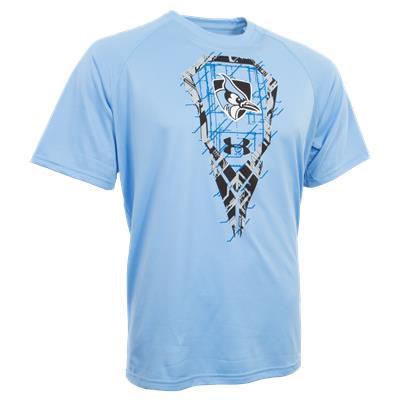 Under Armour Johns Hopkins Lacrosse Stick Tech Tee Shirt