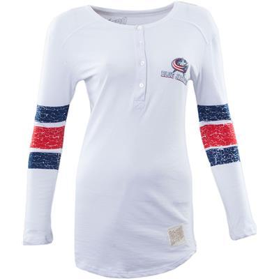Retro Brand Columbus Blue Jackets Henley Long Sleeve Shirt