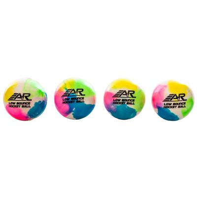 A&R 4-Pack Tie Dye Hockey Balls