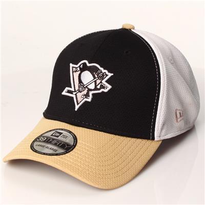 New Era 39Thirty Logo Stretch Flex Fit Hockey Hat - Pittsburgh Penguins