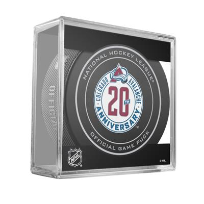 Sher-Wood 960T 20th Anniversary Hockey Puck - Colorado Avalanche