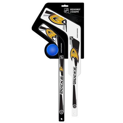 Sher-Wood Breakaway Gen II Mini Set - Goalie & Player Stick w/ Foam Ball - Anaheim Ducks