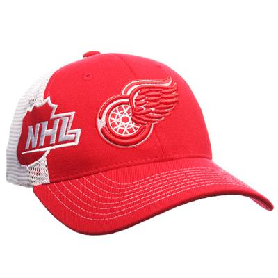 Zephyr Gametime Stretch Fit Hockey Hat - Detroit Red Wings