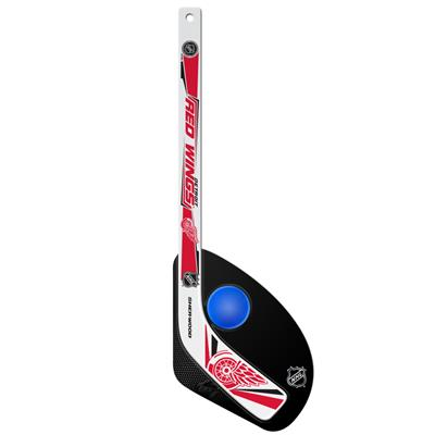 Sher-Wood Hattrick Gen II 2 Piece Mini Player Stick w/ Foam Ball - Detroit Red Wings