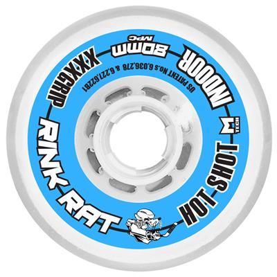Rink Rat Hot Shot Inline Hockey Wheels - Blue/White