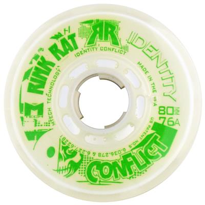 Rink Rat Identity Conflict Inline Hockey Wheels - White/Green