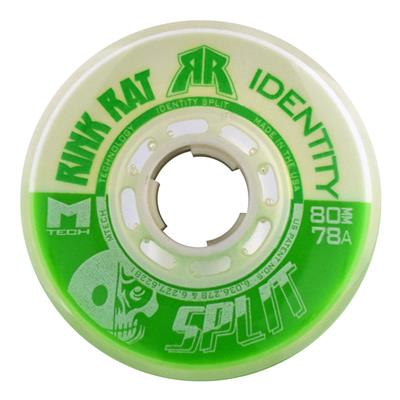 Rink Rat Identity Split Inline Hockey Wheels - Green/White