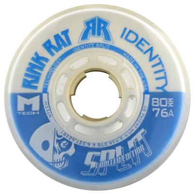 Rink Rat Identity Split LE Inline Hockey Wheels - Blue/White
