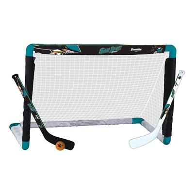 Franklin NHL Mini Hockey Goal Set - San Jose Sharks