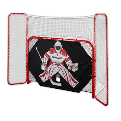 Bauer Steel Hockey Goal with Backstop and Shooter Tutor - 6' x 4'