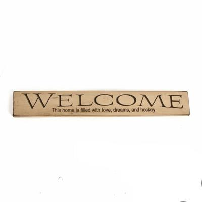 Painted Pastimes WELCOME This home... Sign - 24 Inch
