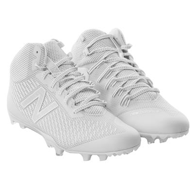 New Balance Burn X LE Mid Cleat White/Chrome