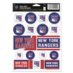 Wincraft NHL Wincraft Vinyl Sticker Sheet - New York Rangers