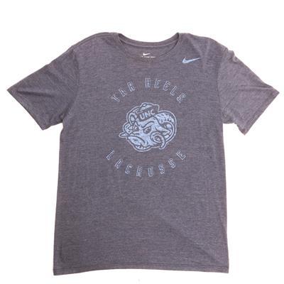 Nike Tri Blend Unc Lacrosse SS Tee