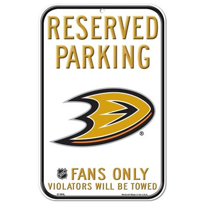 Wincraft Wincraft NHL Reserved Parking Sign - Anaheim Ducks