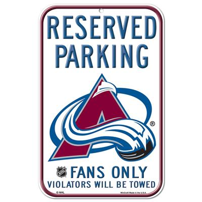 Wincraft Wincraft NHL Reserved Parking Sign - Colorado Avalanche