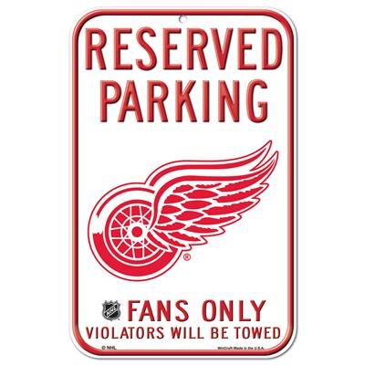 Wincraft Wincraft NHL Reserved Parking Sign - Detroit Red Wings
