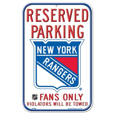 Wincraft Wincraft NHL Reserved Parking Sign - New York Rangers