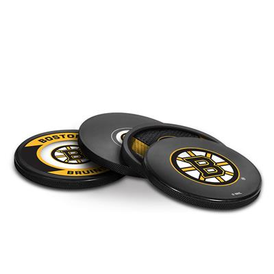 Sher-Wood Puck Coasters Pack - Boston Bruins