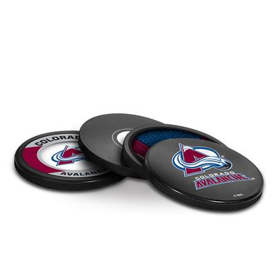 Sher-Wood Sher-Wood Puck Coasters Pack - Colorado Avalanche
