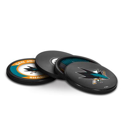 Sher-Wood Sher-Wood Puck Coasters Pack - San Jose Sharks
