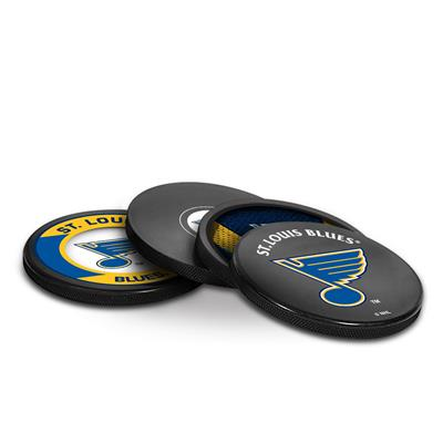 Sher-Wood Puck Coasters Pack - St. Louis Blues