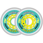 Revision Recoil Soft Inline Wheel - Teal/Yellow
