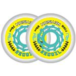 Revision Recoil Firm Inline Wheel - Yellow/Teal