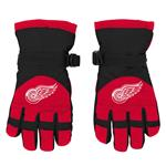 Adidas Nylon Winter Gloves - Detroit Red Wings - Youth