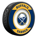 InGlasco NHL Retro Hockey Puck - Buffalo Sabres