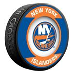 InGlasco NHL Retro Hockey Puck - New York Islanders