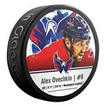 InGlasco NHLPA Hockey Puck - Alexander Ovechkin - #8 - Washington Capitals