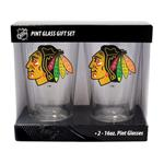 16oz NHL Pint Glass 2-Pack - Chicago Blackhawks