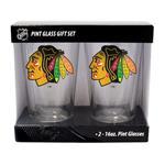 16oz NHL Pint Glass 2-Pack - Chicago Blackhawks