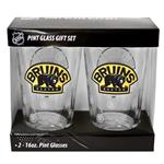 16oz NHL Pint Glass 2-Pack - Boston Bruins