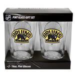 16oz NHL Pint Glass 2-Pack - Boston Bruins