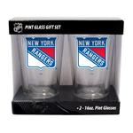 16oz NHL Pint Glass 2-Pack - New York Rangers
