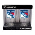 16oz NHL Pint Glass 2-Pack - New York Rangers