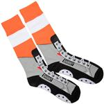 Toe Drag Apparel Philadelphia Orange Shinny Skins Socks - Adult