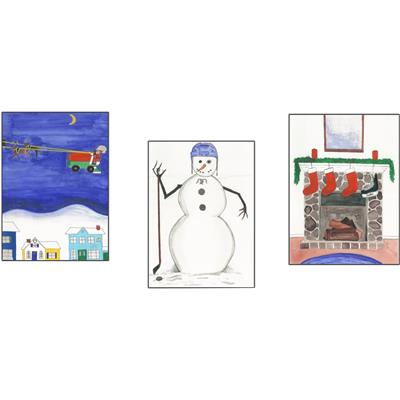 Hockey Holiday Greeting Card 20 Pack