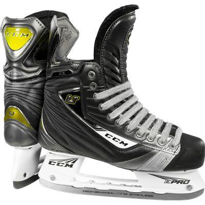 CCM U + Crazy Light Yellow Ice Skates
