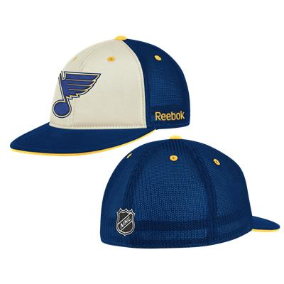 Reebok St. Louis Blues Pro Shape Flat Brim Mesh Hat