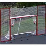 EZ Goal Folding Metal Goal With Corner Targets and Backstop